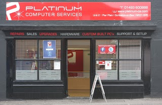 A Photo of the front of Platinum Computers