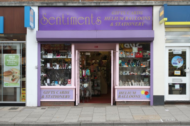 Sentiments cards and gifts shop, Great Yarmouth.